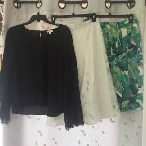 Two Skirt & Lace Top Boutique Set